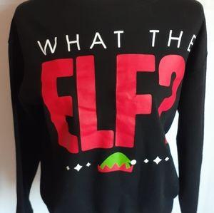 "Gold rush ""What the elf"" women's christmas sweater"